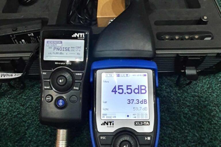 GC Reports sound insulation testing decibel meter